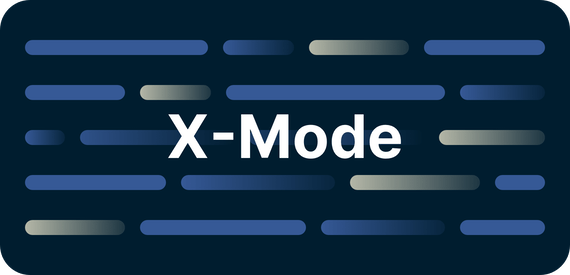 X-Mode on a screen.