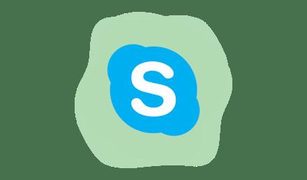Skype logo.