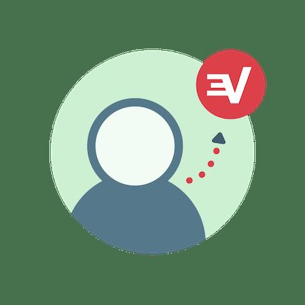Gebruiker meldt zich aan voor ExpressVPN.