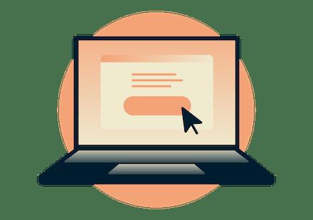 Laptop z przyciskiem Zdobądź ExpressVPN.