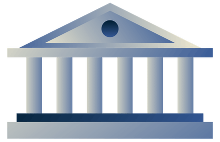 Regierungsgebäude mit Säulen