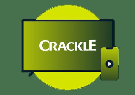 Crackle logo on TV screen.
