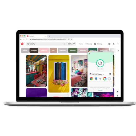 Pinterest on a PC with ExpressVPN.