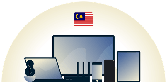 Malaysia VPN protecting a variety of devices.